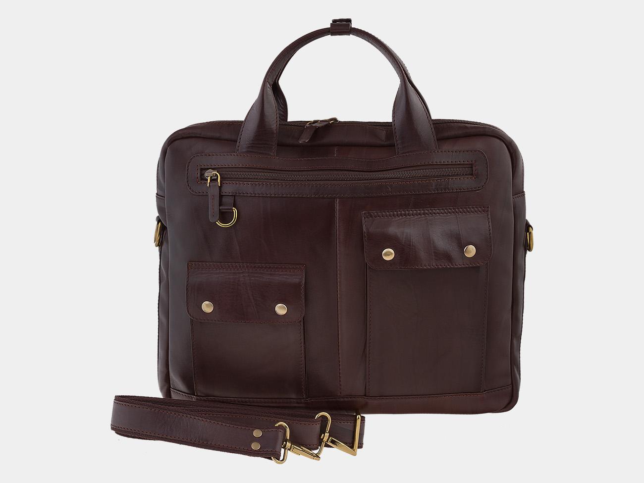 be37181be23d Коричневый кожаный мужской портфель из натуральной кожи «PF0019 Brown»