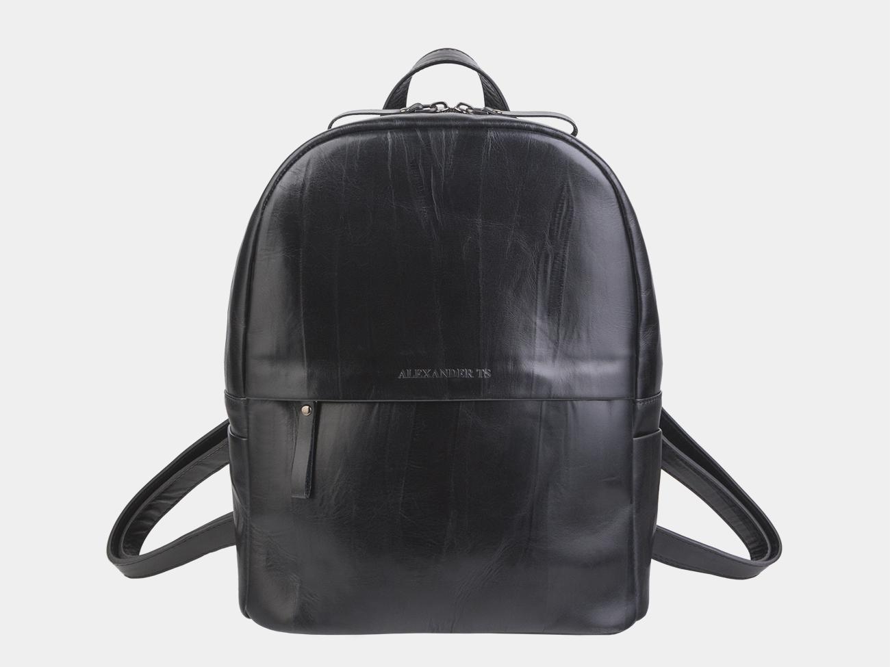 440fc0ab240d Недорого купить черный кожаный рюкзак из натуральной кожи «R0033 ...
