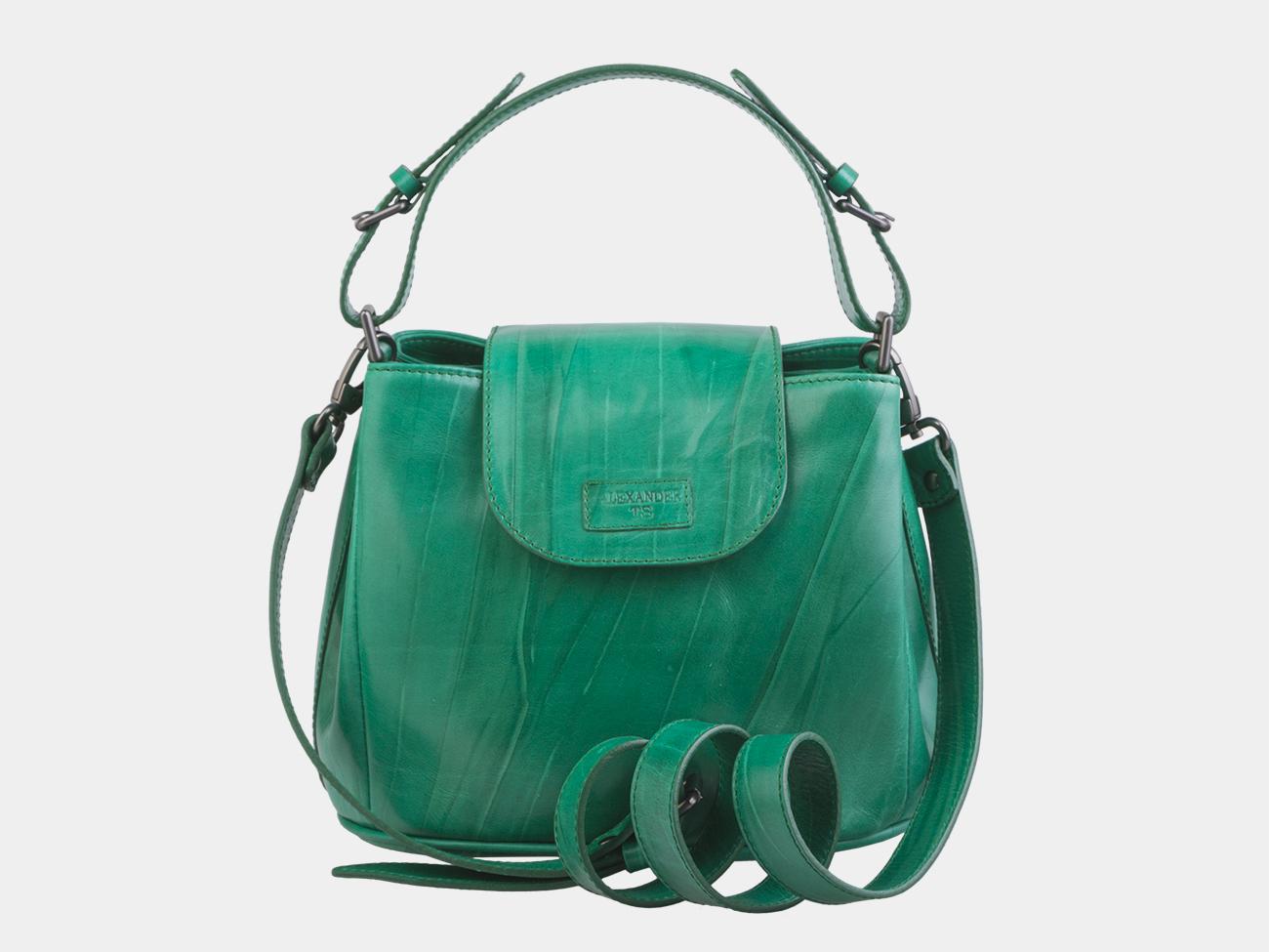 8313d434bb26 Недорого купить зелёную кожаную женскую сумку из натуральной кожи ...